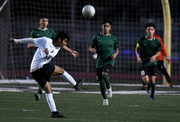 Sierra Vista vs. Nogales during a prep soccer match at Nogales High School on Thursday, January 24, 2019 in La Puente, California. (Photo by Keith Birmingham, Pasadena Star-News/SCNG)