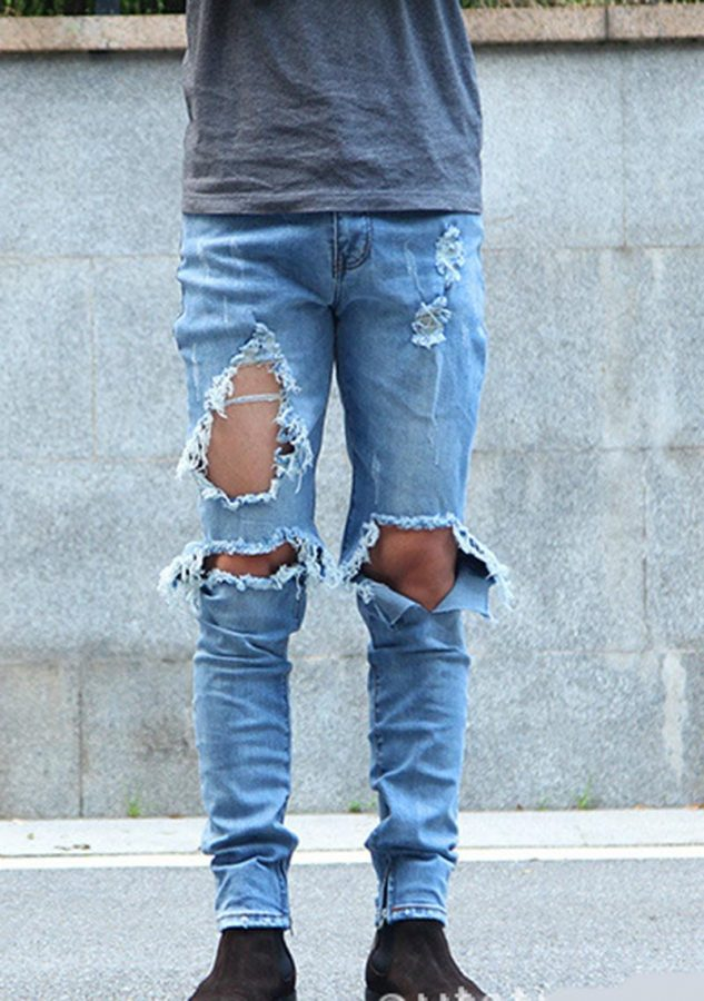 The trend of ripped jeans