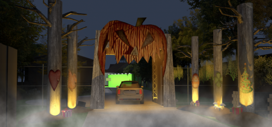 Spooky drive-thru for a safe haunted Halloween