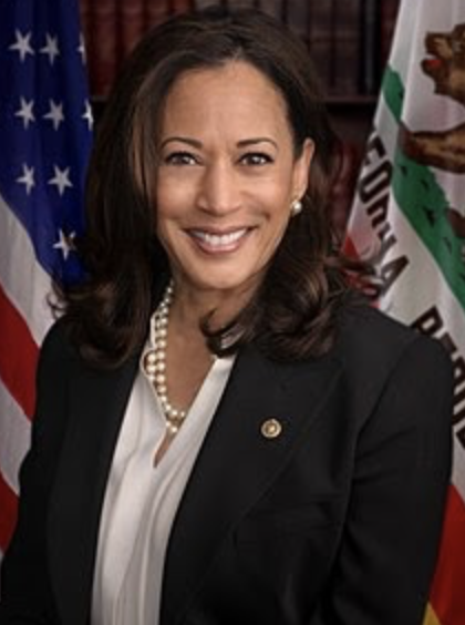 New Vice President Elect Kamala Harris - the first woman in the White House